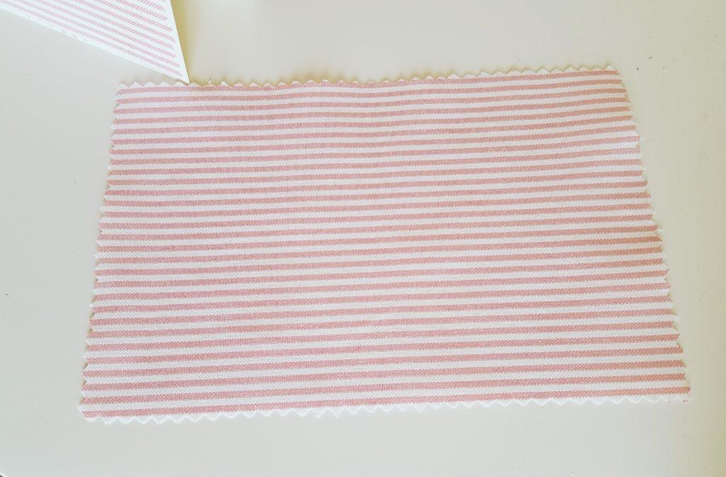 Anleitung für Einladung zur Taufe mit Stoff und Papier