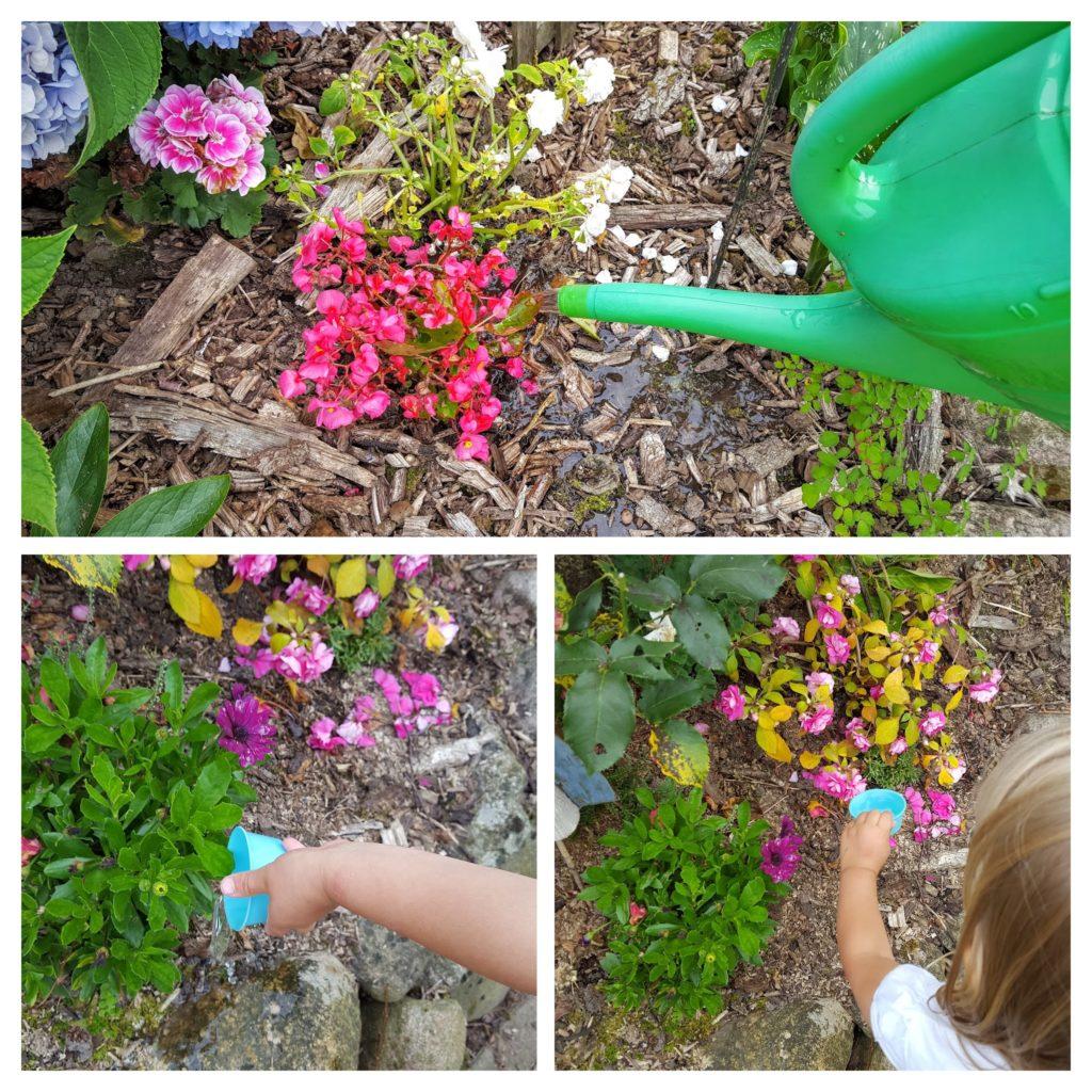 Rollenspiel Blumen gießen Frau Piefke schreibt