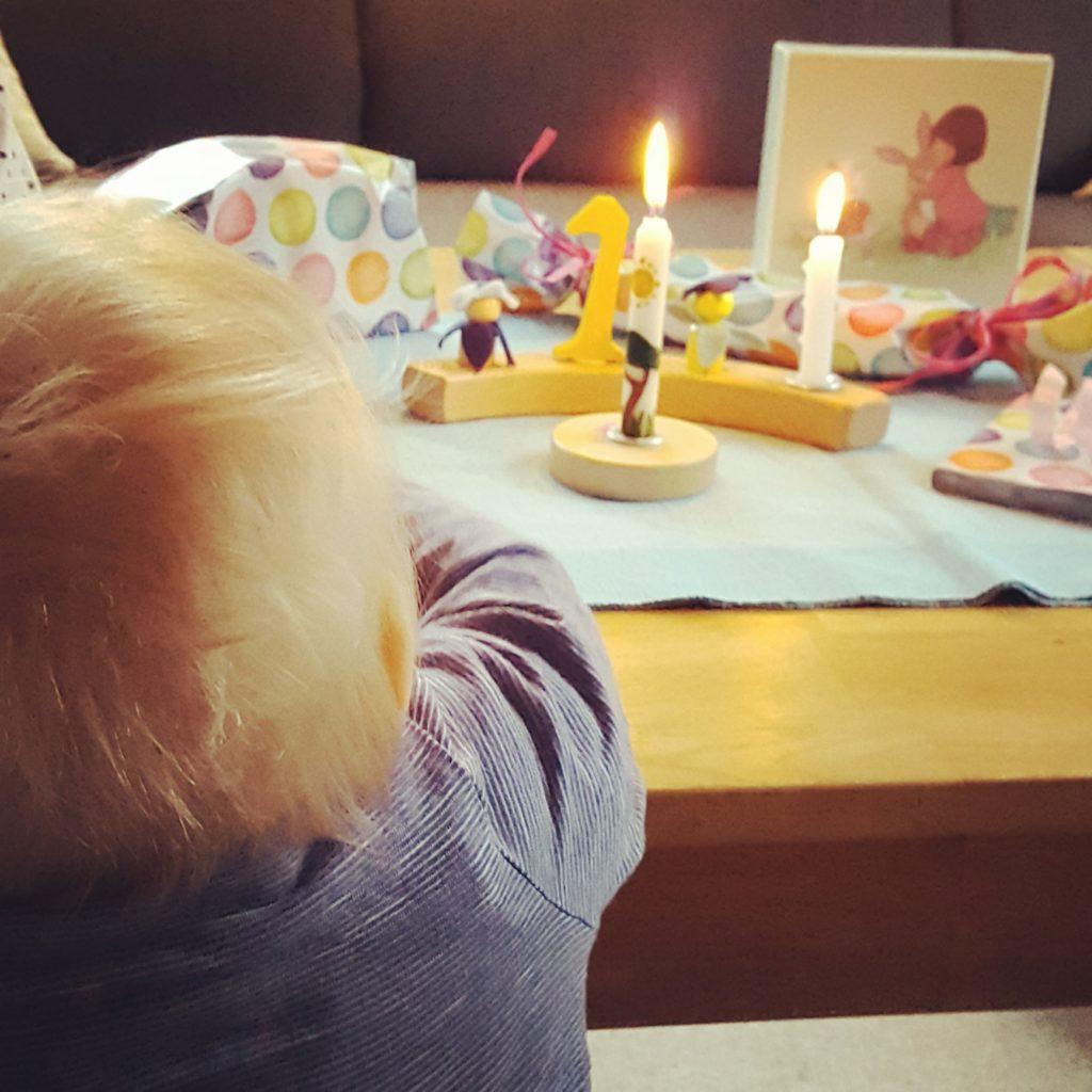 Geburtstagstisch Mine 1. Geburtstag Frau Piefke schreibt