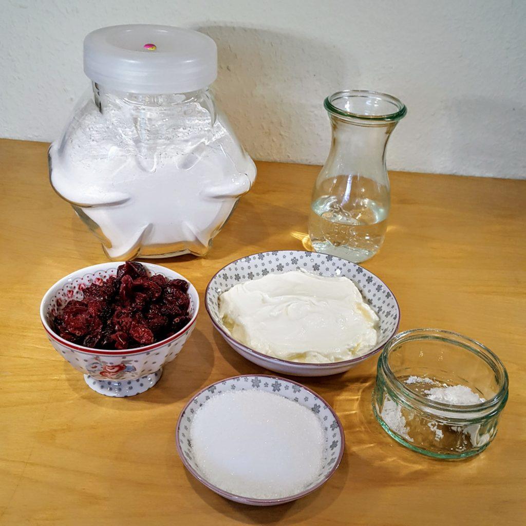 Zutaten Rezept Scones Cranberries Griechischer Joghurt Frau Piefke schreibt