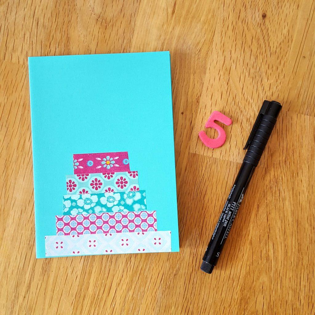 Zahl Einladung zum 5. Geburtstag Frau Piefke schreibt