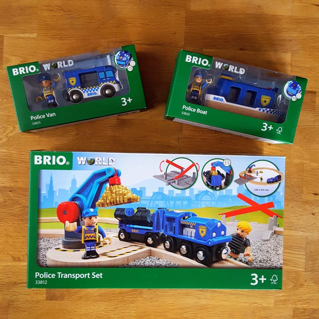 Verpackung Brio Polizei Frau Piefke schreibt