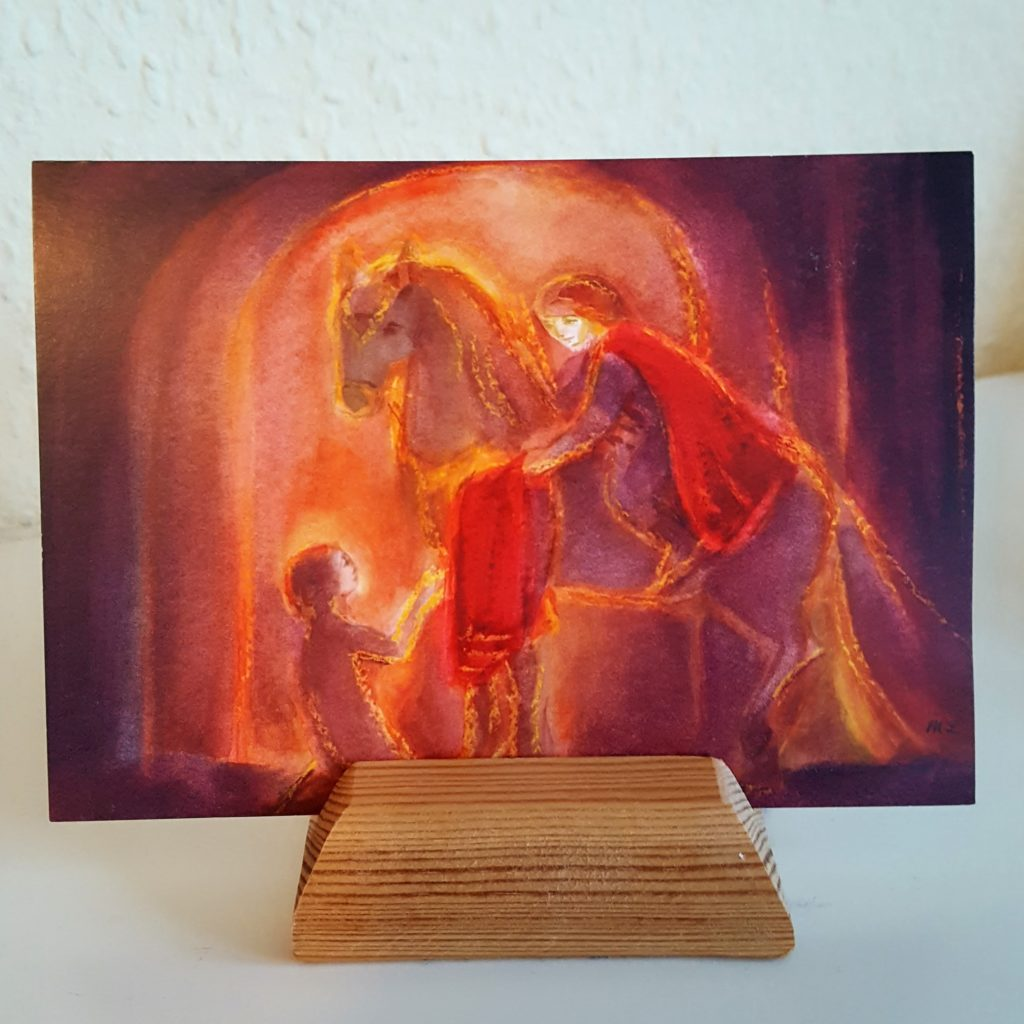 Bild Sankt Martin und Bettler Frau Piefke schreibt