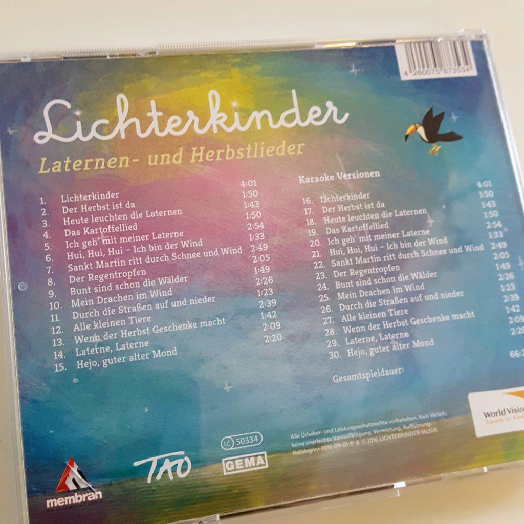 Lichterkinder CD Laternenlieder Lieder Sankt Martin Frau Piefke schreibt