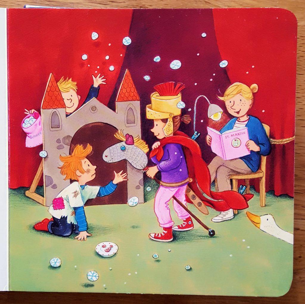 Martinsspiel mit Kindern St Martin Frau Piefke schreibt